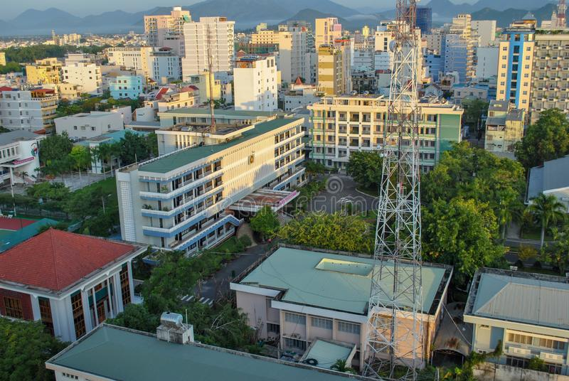 Nha Trang miasto 1 lotu ptaka s obraz stock