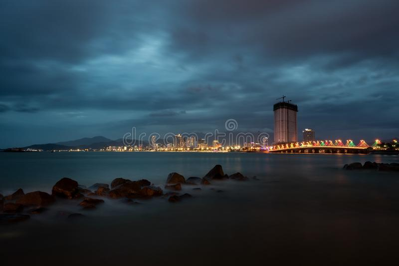 Download Nha Trang By Night Editorial Stock Image - Image: 83721344
