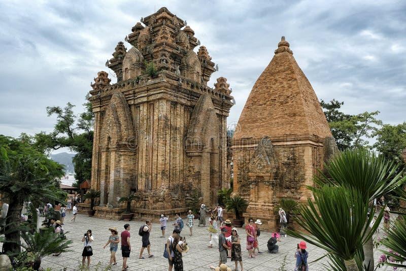 Po Nagar Cham towers in Nha Trang, Vietnam. stock photo