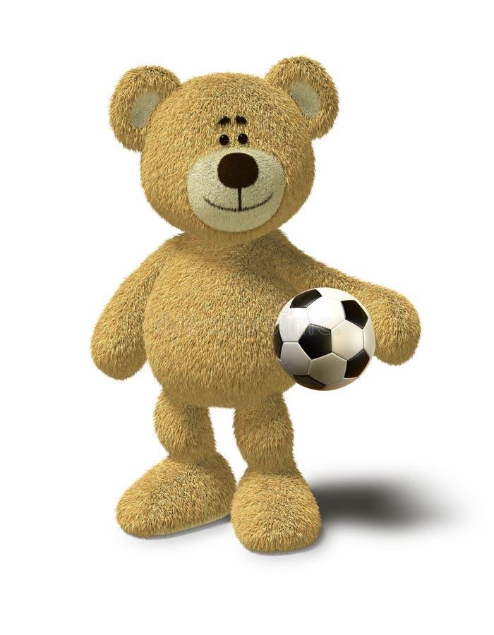 Download Nhi Bear Holds A Soccer Ball Stock Illustration - Illustration of human, bear: 17235180