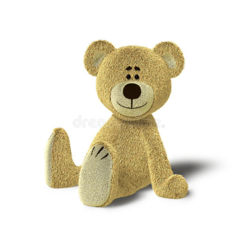 Free Nhi Bear Sitting On The Floor, Side Stock Photo - 17250880