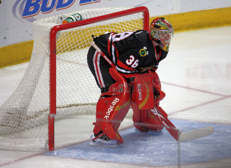 Download NHL Chicago Black Hawks Goalie Editorial Image - Image: 8236455