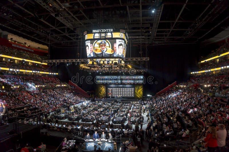 Nhl draft 2015 - Zachary Senyshyn - Boston Bruins imagens de stock