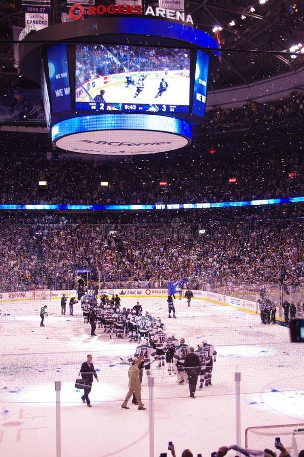 NHL san jose sharks w Vancouver fotografia royalty free