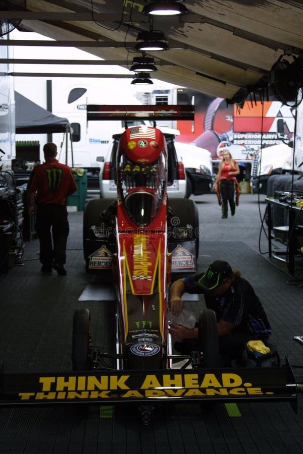 NHRA al parco 2018 del Motorsports dell'ingresso immagini stock libere da diritti