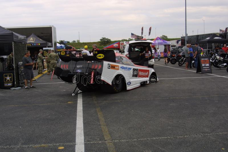 NHRA al parco 2018 del Motorsports dell'ingresso fotografia stock