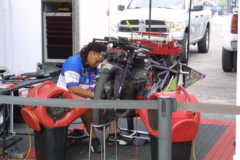 NHRA au parc 2018 de sports mécaniques de passage photographie stock libre de droits