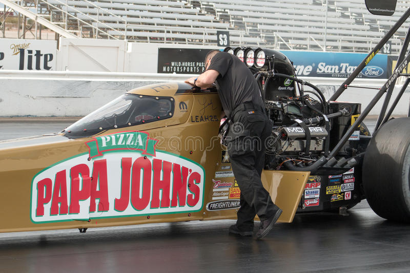 NHRA Top Fuel Dragsters stock image
