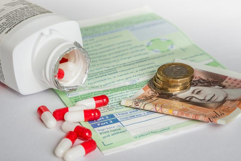 NHS系统的实际费用 免版税图库摄影