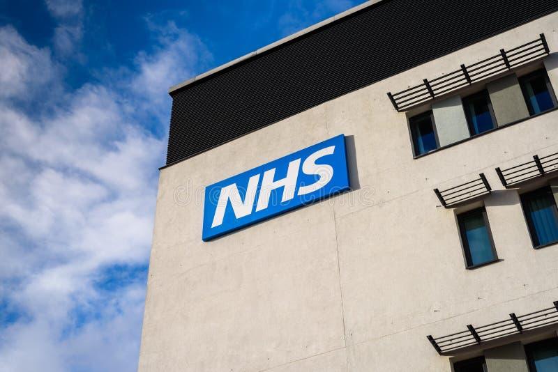 NHS byggnad royaltyfria foton