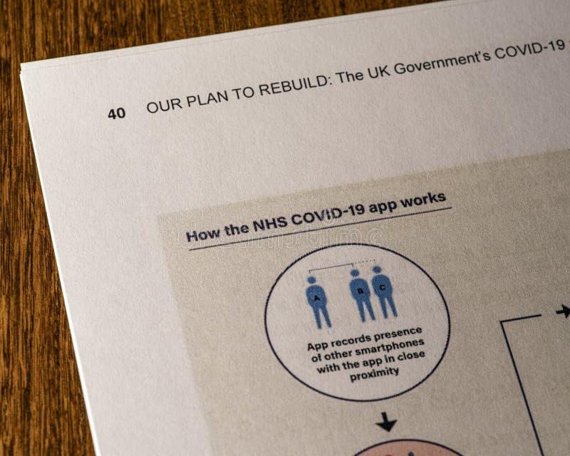 NHS COVID-19应用 免版税图库摄影