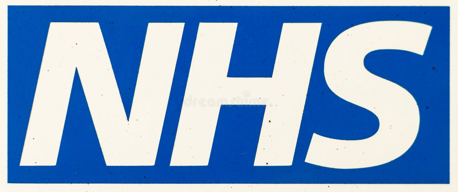 NHS Logo close up stock photography
