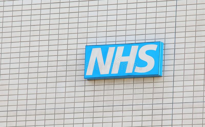 NHS National Health Service sign UK stock images