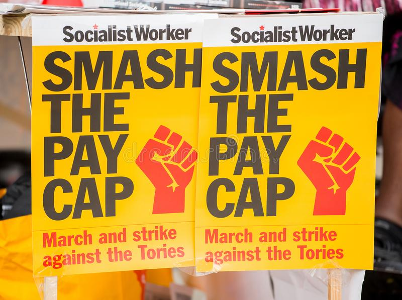 NHS - SCRAP THE CAP PROTEST royalty free stock photography