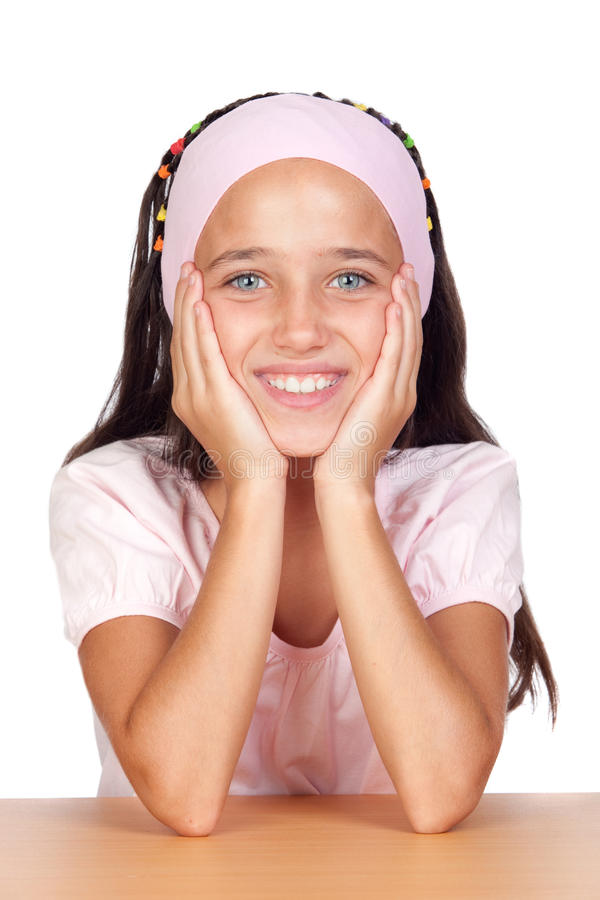 Niña adorable con los ojos azules fotografía de archivo libre de regalías