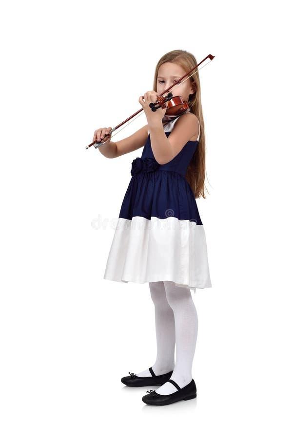 Niña con el violín fotos de archivo