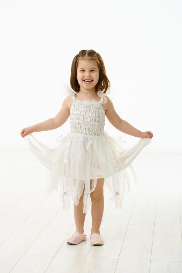 Niña de risa en traje del ballet imagen de archivo libre de regalías