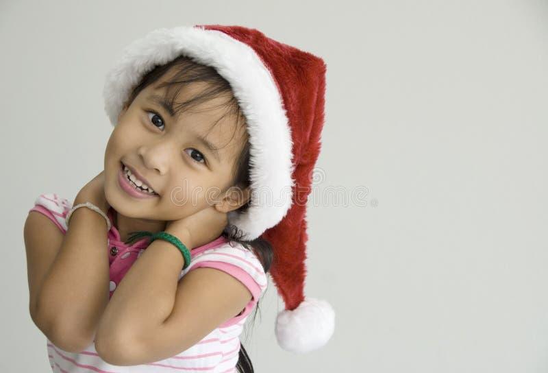 Niña en la Navidad fotos de archivo