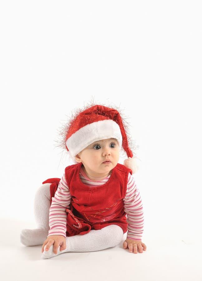 Niña en tiempo de la Navidad fotografía de archivo