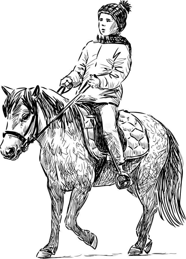 Niña en un potro libre illustration