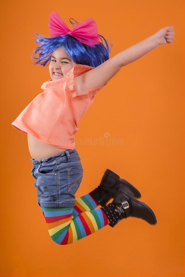 Niña multicolora fotografía de archivo libre de regalías