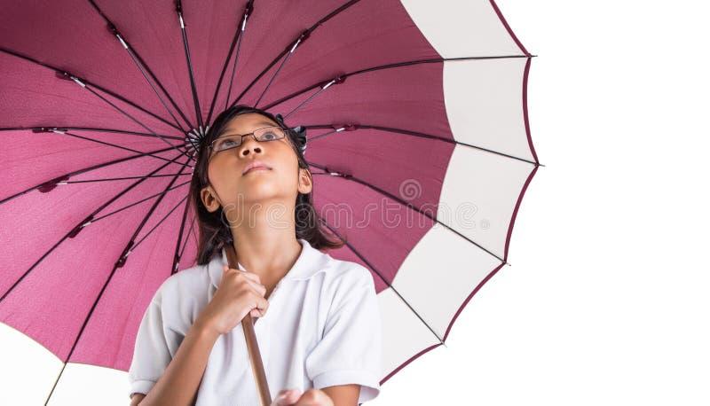 Niña y paraguas XI fotos de archivo libres de regalías