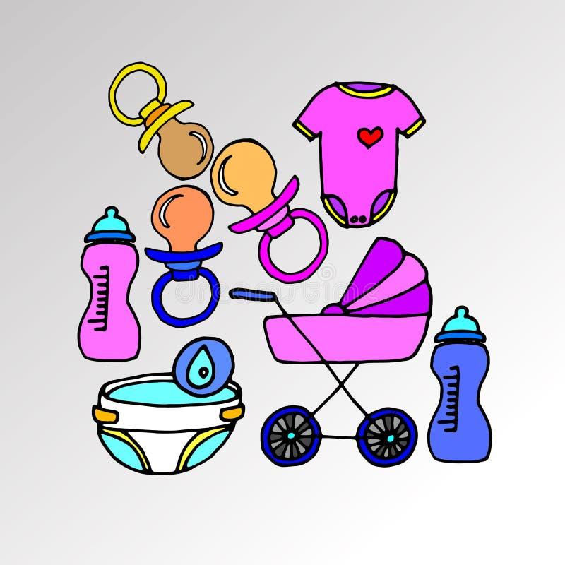 Niñez linda del vector del desgaste de la muchacha de la ropa del ejemplo libre illustration