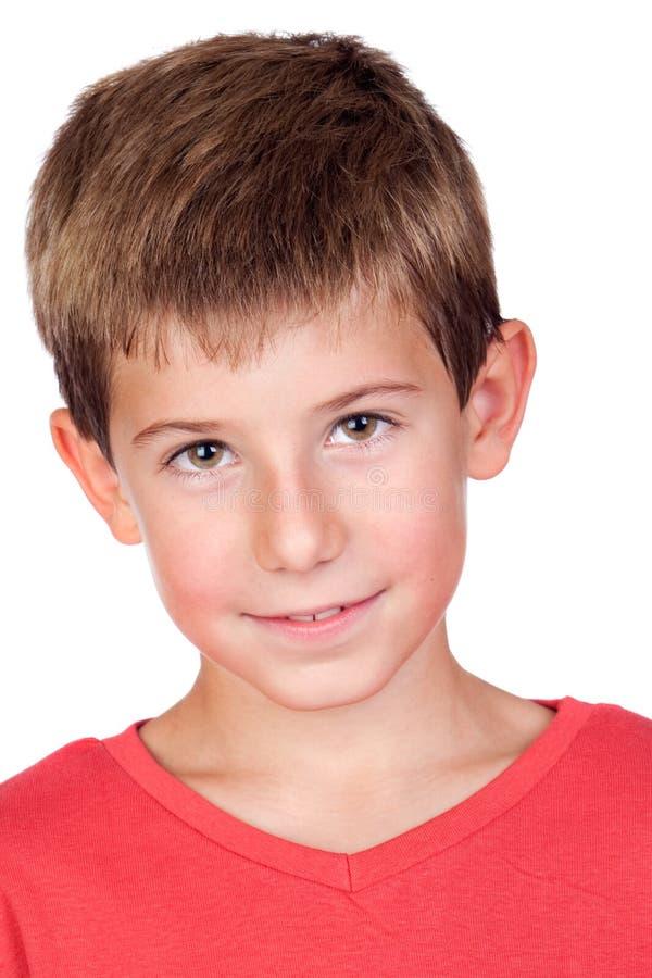 Niño adorable con el pelo rubio fotos de archivo libres de regalías