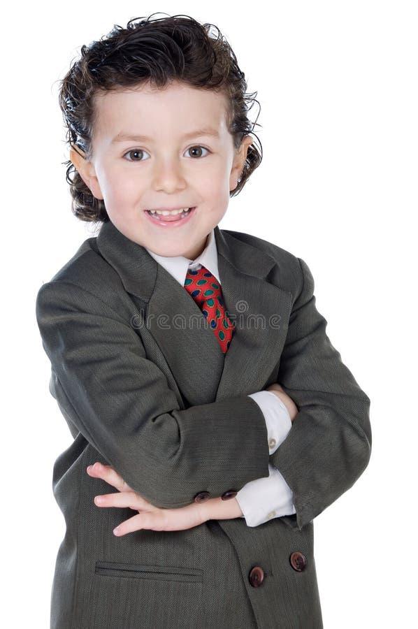 Niño adorable con ropa elegante imagen de archivo