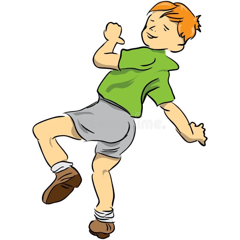 Niño alegre stock de ilustración