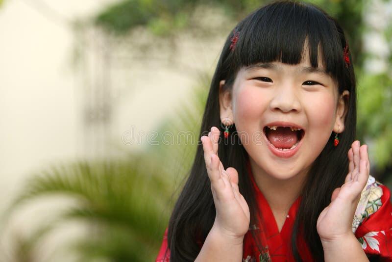 Niño asiático de griterío fotos de archivo libres de regalías