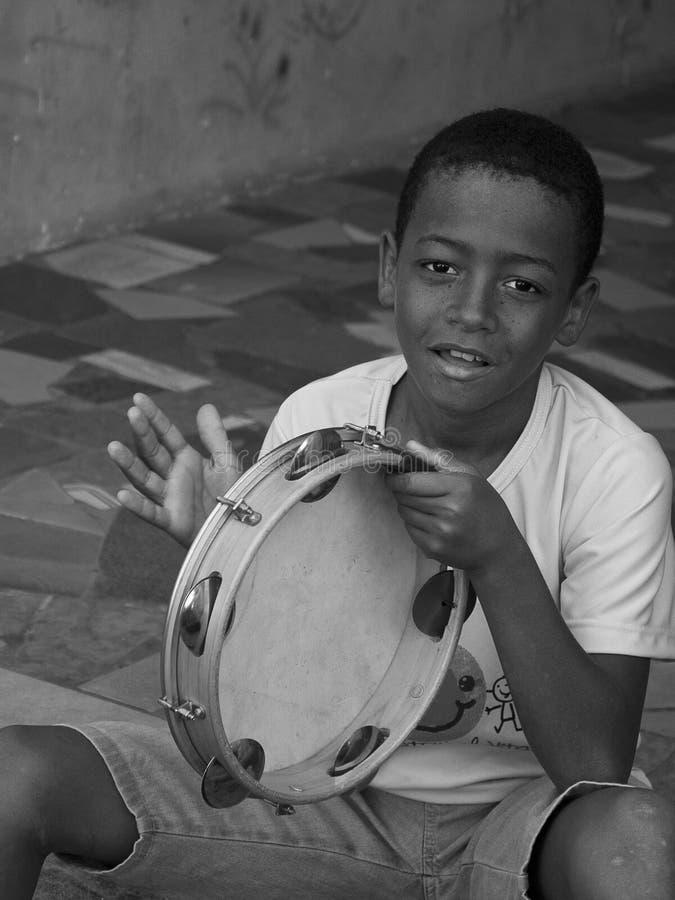 Niño brasileño foto de archivo