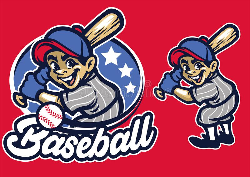 Niño como talud del béisbol libre illustration