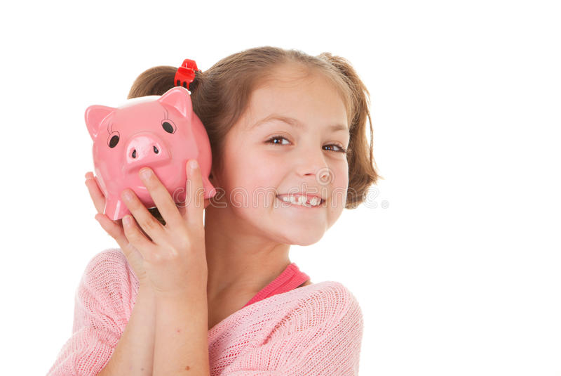 Niño con ahorros imágenes de archivo libres de regalías