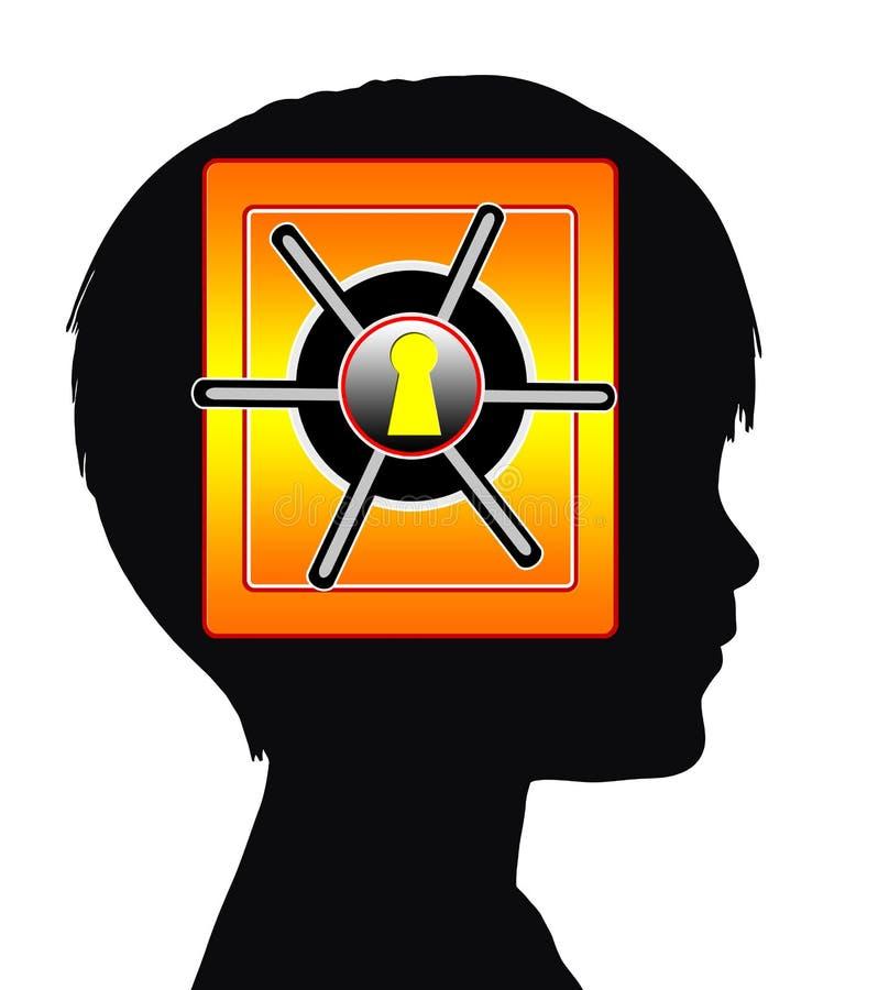 Niño con amnesia o autismo libre illustration