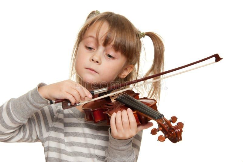 Niño con el violín imagenes de archivo