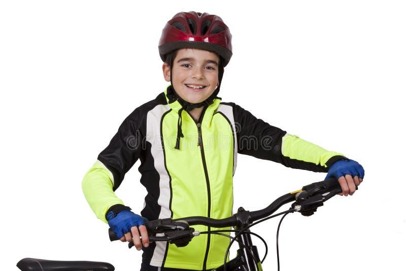 Niño con la bicicleta foto de archivo libre de regalías