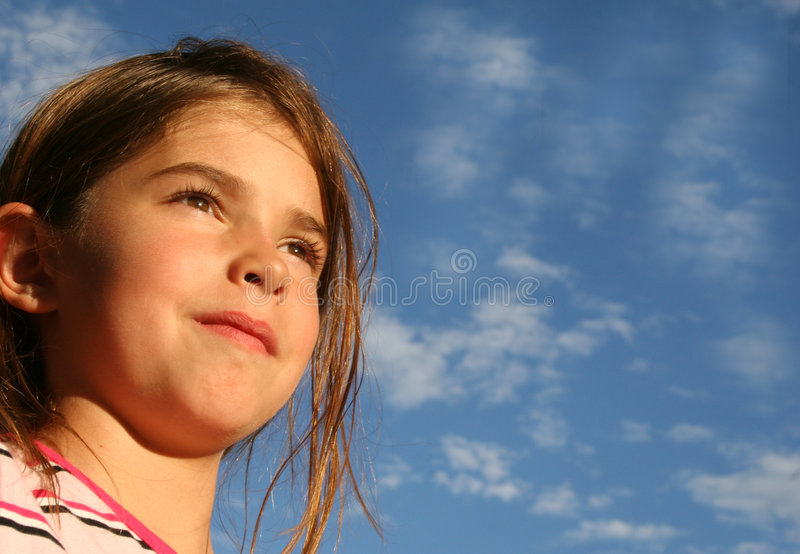 Niño confidente esperanzado fotografía de archivo