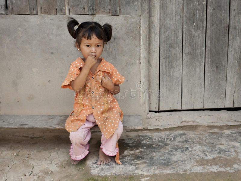 Niño de Asia en Laos imagen de archivo