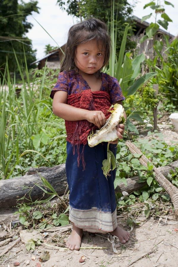 Niño de Asia en Laos imágenes de archivo libres de regalías