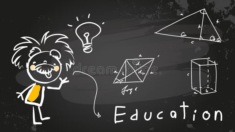 Niño de Einstein ilustración del vector