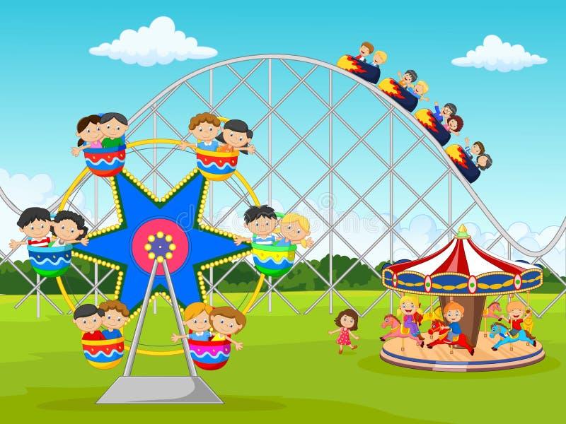 Niño de la historieta en el festival del carnaval ilustración del vector