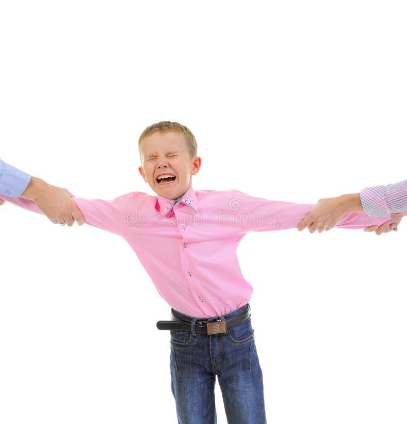 Niño de la parte de los padres. foto de archivo libre de regalías