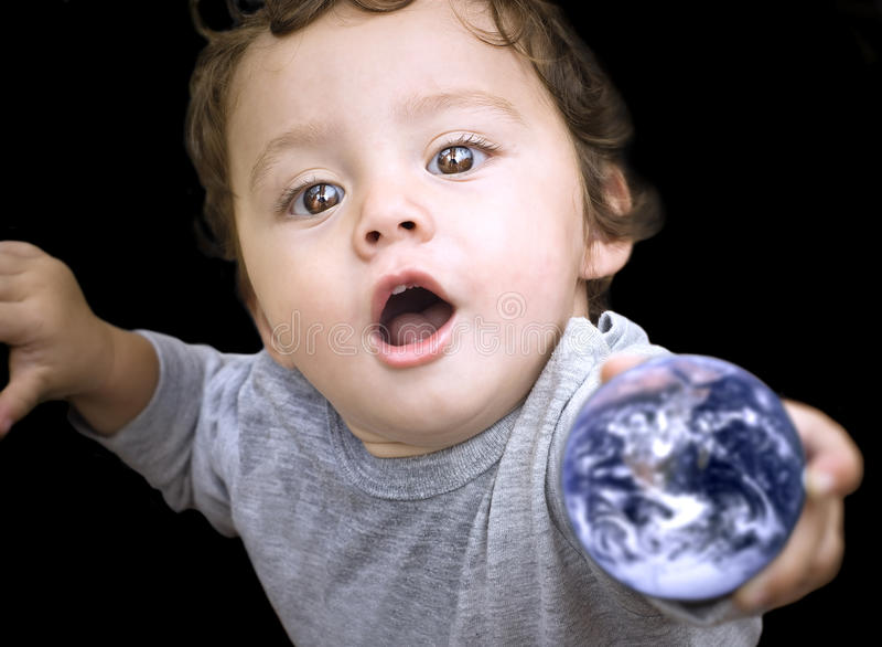 Niño de la tierra imágenes de archivo libres de regalías