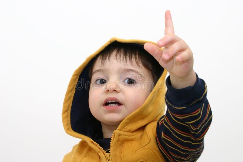 Niño del muchacho en ropa de la caída foto de archivo