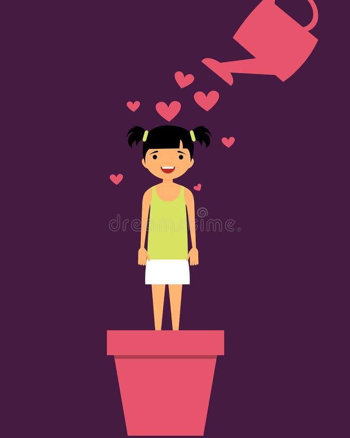 Niño del Parenting con amor libre illustration