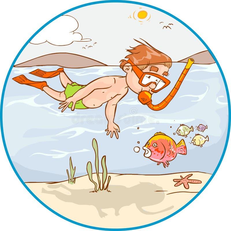 Niño del salto ilustración del vector