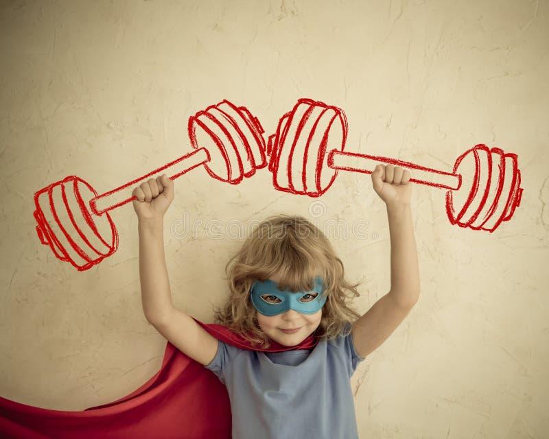 Niño del super héroe fotos de archivo libres de regalías