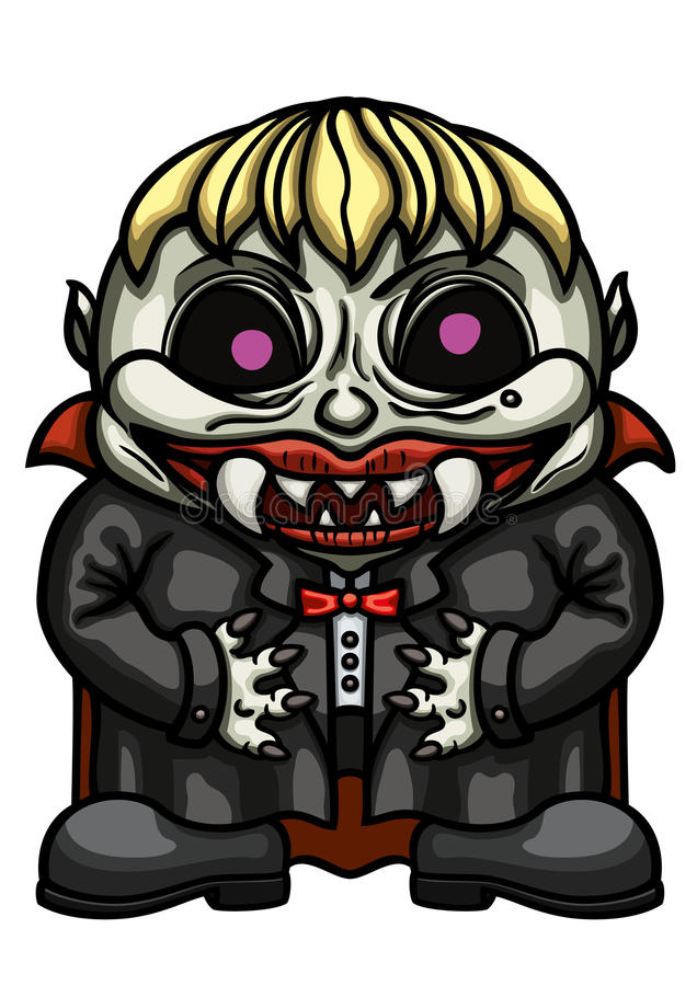 Niño del vampyre de la historieta stock de ilustración