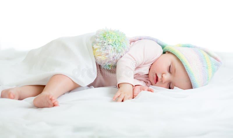 Niño durmiente divertido fotos de archivo libres de regalías